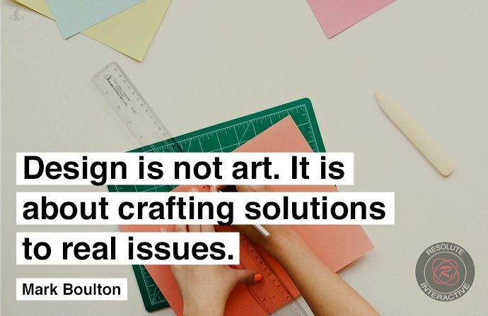 web design is not art